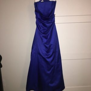 Royal Blue ball gown.